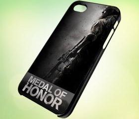 HP042 medal of honor design for iPhone 5 Black Plastic Case - leave message for White Case / iPhone 4 or iPhone 4S Case