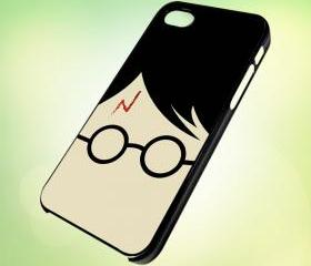 HP053 Harry Potter Face design for iPhone 5 Black Plastic Case - leave message for White Case / iPhone 4 or iPhone 4S Case