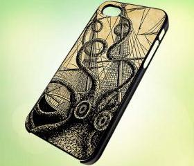 HP067 kraken sea monster design for iPhone 5 Black Plastic Case - leave message for White Case / iPhone 4 or iPhone 4S Case