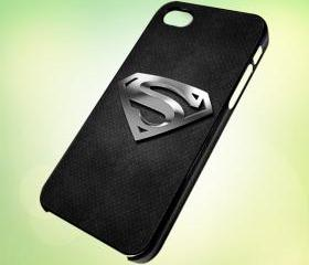 HP115 SuperMan Logo Still design for iPhone 5 Black Plastic Case - leave message for White Case / iPhone 4 or iPhone 4S Case