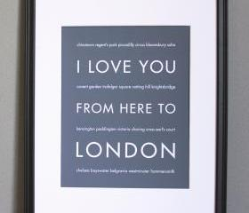London art print, 8x10
