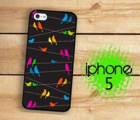 IPhone 5 Case - Rainbow Birds on a Wire