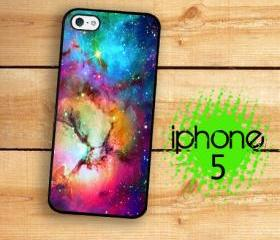 IPhone 5 Case - Rainbow Unicorn Nebula Space and Stars