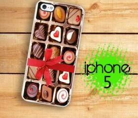 IPhone 5 Case - Chocolate Box, candy Hearts and bow