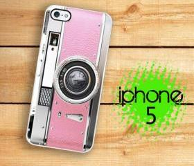 IPhone 5 Case - Retro Pink Camera Vintage Style Princess Pink