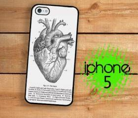 IPhone 5 Case - Medical Chart Anatomical Heart Vintage Medical 