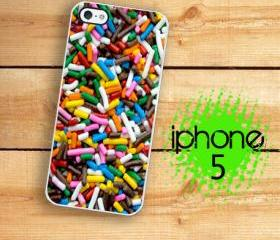 IPhone 5 Case - Rainbow Candy Sprinkles Ice cream Sprinkles case