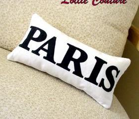 Personalized Pillows, LOVE, PARIS, Mrs, Kisses, Home decor, bedroom decor - 6' x 11'