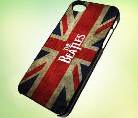 HP123 The Beatles Band Logo design for iPhone 5 Black Plastic Case - leave message for White Case / iPhone 4 or iPhone 4S Case