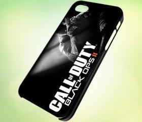 HP157 Call of Duty - Black ops II design for iPhone 5 Black Plastic Case - leave message for White Case / iPhone 4 or iPhone 4S Case