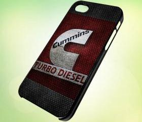 HP163 CUMMINS Turbo Diesel Logo design for iPhone 5 Black Plastic Case - leave message for White Case / iPhone 4 or iPhone 4S Case