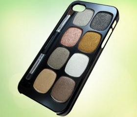 HP178 Eyeshadow Makeup Set design for iPhone 5 Black Plastic Case - leave message for White Case / iPhone 4 or iPhone 4S Case