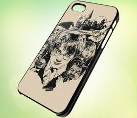 HP201 harry potter sketch design for iPhone 5 Black Plastic Case - leave message for White Case / iPhone 4 or iPhone 4S Case