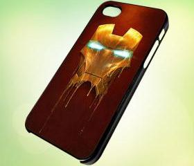 HP204 Iron man Mask design for iPhone 5 Black Plastic Case - leave message for White Case / iPhone 4 or iPhone 4S Case