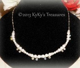Sterling Silver Swarovski Pearl & Crystal Bridal/Bridesmaid Necklace, Wedding, Bridal Jewelry, Bridesmaid Jewelry, Wedding Necklace