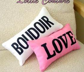 Personalized Pillows, LOVE, PARIS, BOUDOIR, NAME, DATE, MRS - 6' x 11'
