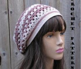 Crochet Pattern - Slouchy Spring Hat, Crochet Pattern PDF, Pattern No. 43