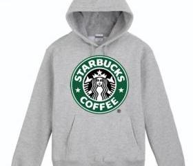 Grey Starbucks Hoodie