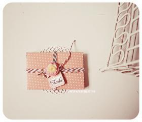6 tiny Melon Berry Peach envelope / pack