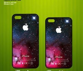 Comodos Red Galaxy Nebula - Apple Logo Design - Photo on Hard Cover for iPhone 5 - Please leave a message for a white case
