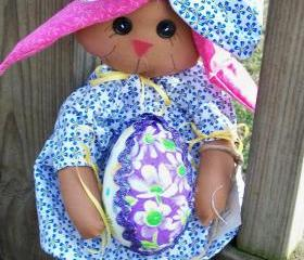Miss Elizabeth Girl Chocolate Doll Bunny