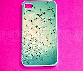iphone 4 Case, iPhone 4s case - Young in Infinity iPhone 4 Cases, Iphone 4s Cover,Case for iPhone 4