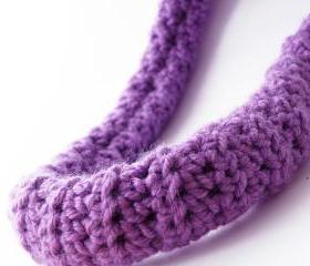 Lilac Neck Warmer Crochet Necklace Merino Wool Spring Collection Fashion Accessories by SteamyLab