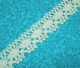 1 yard of 1 1/4 inch Ivory cluny lace trim for bridal, baby, wedding, couture, costume, holiday by MarlenesAttic - Item VT
