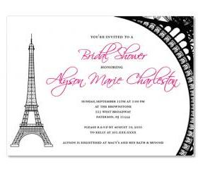 Eiffel Tower Theme Custom Invitations