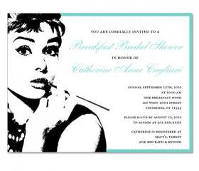 Breakfast at Tiffany Theme Custom Invitations