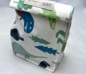 Oilcloth Lunch Bag - Dino