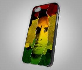 Bob Marley Face Artwork Prind on Hard Case for iPhone 4/4S