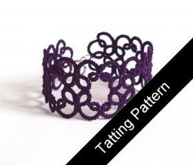 PDF Beginner Tatting Pattern - 'Christina' Bracelet