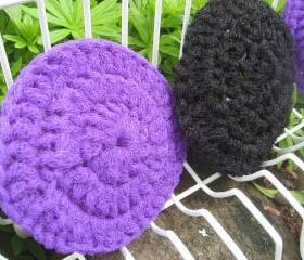 Dish Scrubbies. SET OF 3. Crochet Nylon Dish Scrubber.
