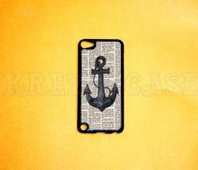 iPod Touch 5 Case, Anchor with book art iPod touch 5 Cases, iPod touch 5G Cover,Case for iPod touch 5