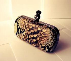 Desert Snake Mohican Skull Clutch