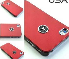 USA Mercedes iPhone 5 Case Mercedes Benz Emblem Sport Car logo Aluminium matte Metal cover - red