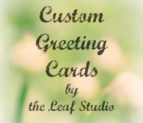 Custom Handmade Greeting Card (Blank Inside) by The Leaf Studio. FREE shipping.
