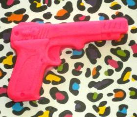 Soap - Gun Soap - Pomegranate scented - Pink Gun Soap - Hot Pink Soap - Pink Gun - Party Favors