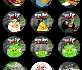 Angry Birds Heikki Set of 12 2-Inch Round Personalized Stickers or Seals