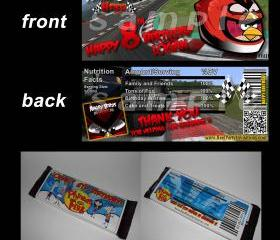 Angry Birds Heikki Set of 12 Personalized Candy Bar Wrappers - Great Party Favors