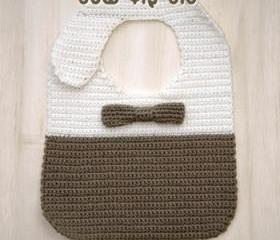 Bow Tie Bib Crochet PATTERN, SYMBOL DIAGRAM (pdf)