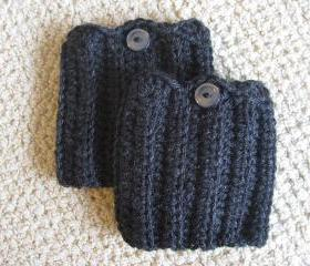 Crochet Boot Cuffs with Button. Stylish Boot Topper. Choose your Color.