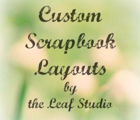 Custom 12x12 Scrapbook Layout (2 pages) by The Leaf Studio. FREE shipping.
