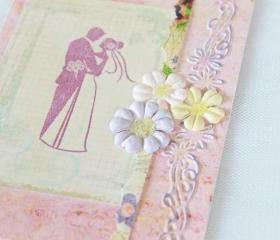 Happy Couple Handmade Greeting Card (Blank Inside) by The Leaf Studio. FREE shipping.