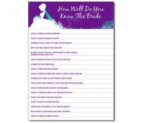How Well Do You Know The Bride Shower Game Personalized Cards PDF
