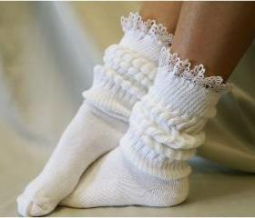 Cuddle Bunny sock / super -duper -thick - cuddly - cottony - slouchy sock. Great for working out or lounging around - Catherine Cole StudioFrom CatherineColeStudio