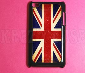Ipod Touch 4 Case ,British Flag, UK flag Ipod 4G Touch Case, 4th Gen Ipod Touch Cases