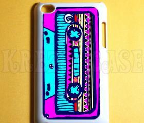 Ipod Touch 4 Case Retro style cassette Ipod 4G Touch Case, 4th Gen Ipod Touch Cases
