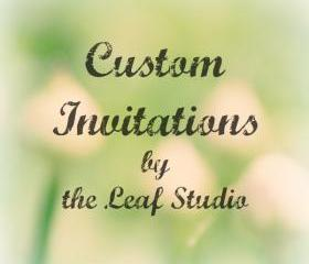 Custom Invitations (set of 10 with envelopes) by The Leaf Studio. FREE shipping.